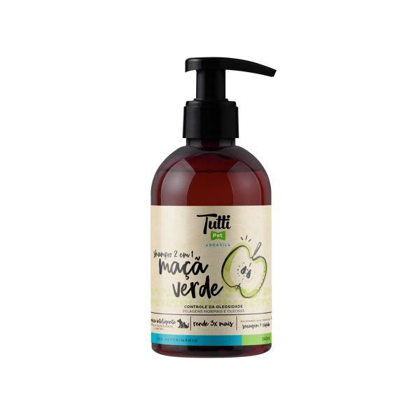 Shampoo Tutti Pet 2 em 1 Maçã Verde 340ml