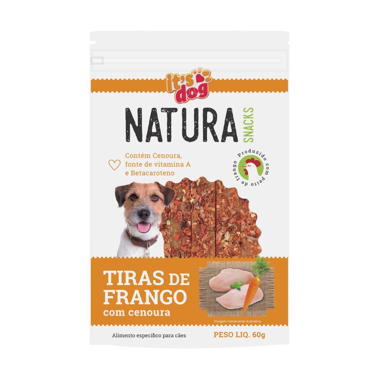 Snack Natura Tiras de Frango e Cenoura Desitratada 100% Natural - 60g