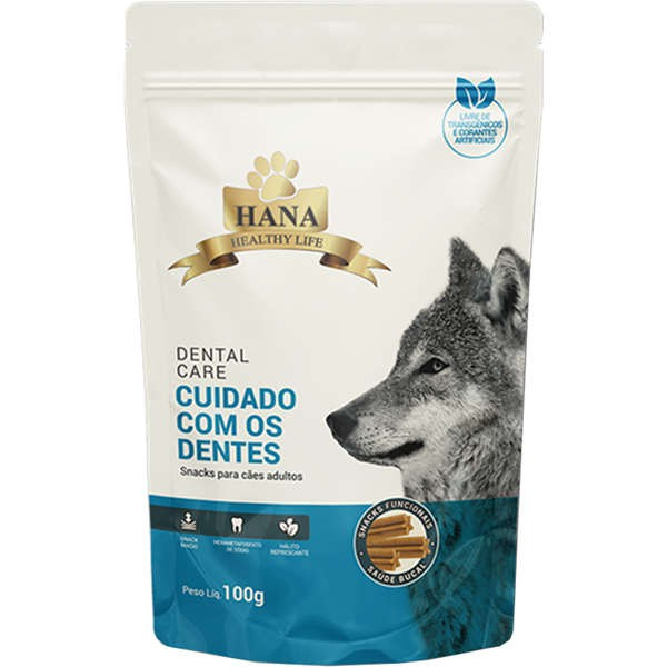 Snacks Hana Healthy Life Dental Care para Cães Adultos 100g