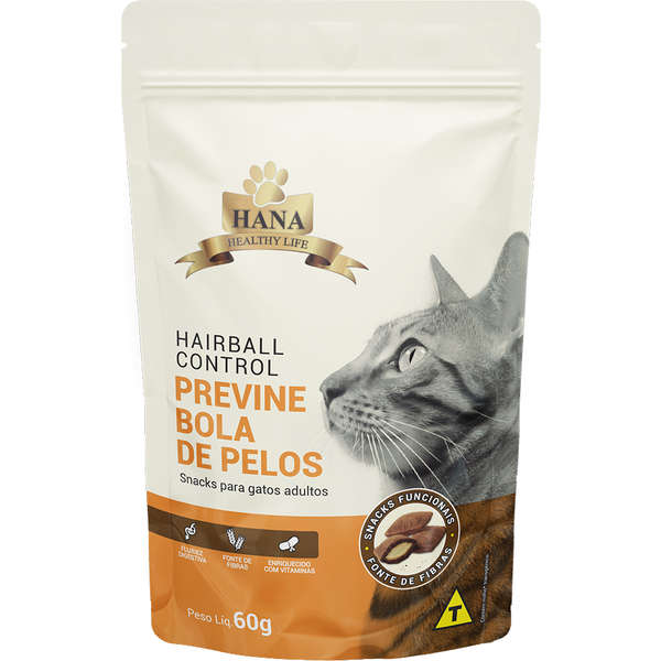 Snacks Hana Healthy Life Hairball Control para Gatos Adultos 60g