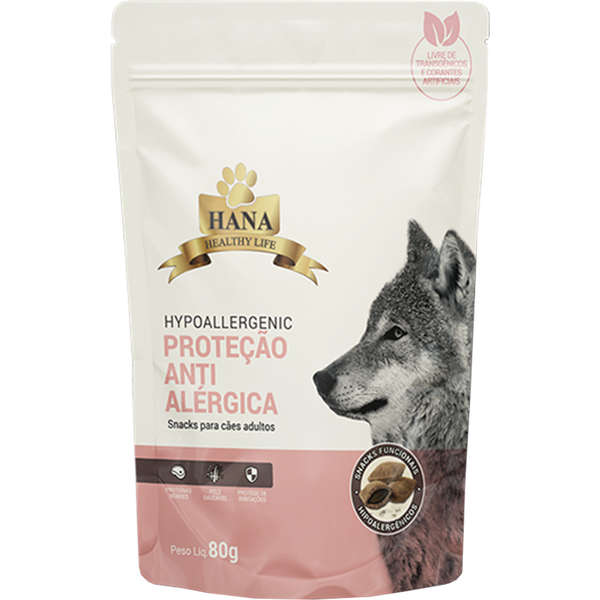 Snacks Hana Healthy Life Hypoallergenic para Cães Adultos 80g
