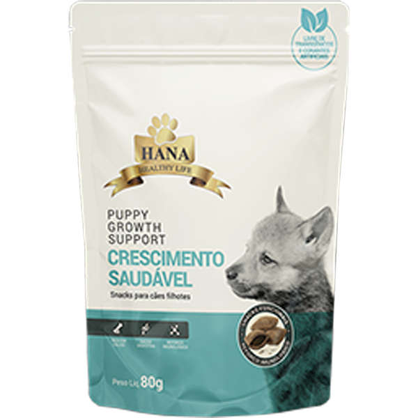 Snacks Hana Healthy Life Puppy Growth Support para Cães Filhotes 80g