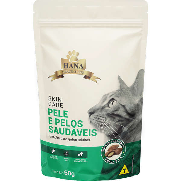 Snacks Hana Healthy Life Skin Care para Gatos Adultos 60g