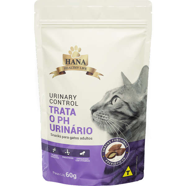 Snacks Hana Healthy Life Urinary Control para Gatos Adultos 60g