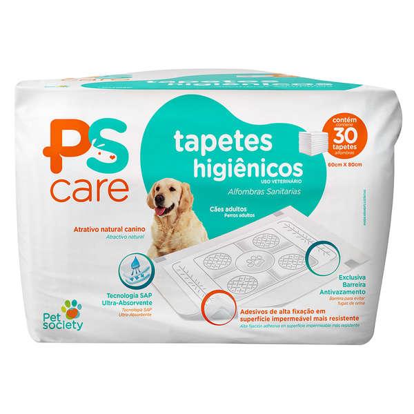 Tapete Higiênico PS Care Pet Society 30 unidades (60cm x 80cm)
