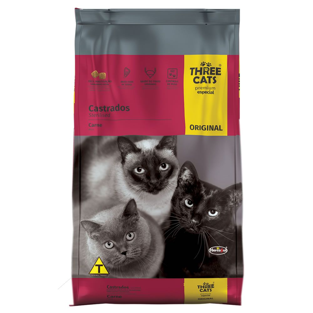 Three Cats Original Castrado Adultos Carne