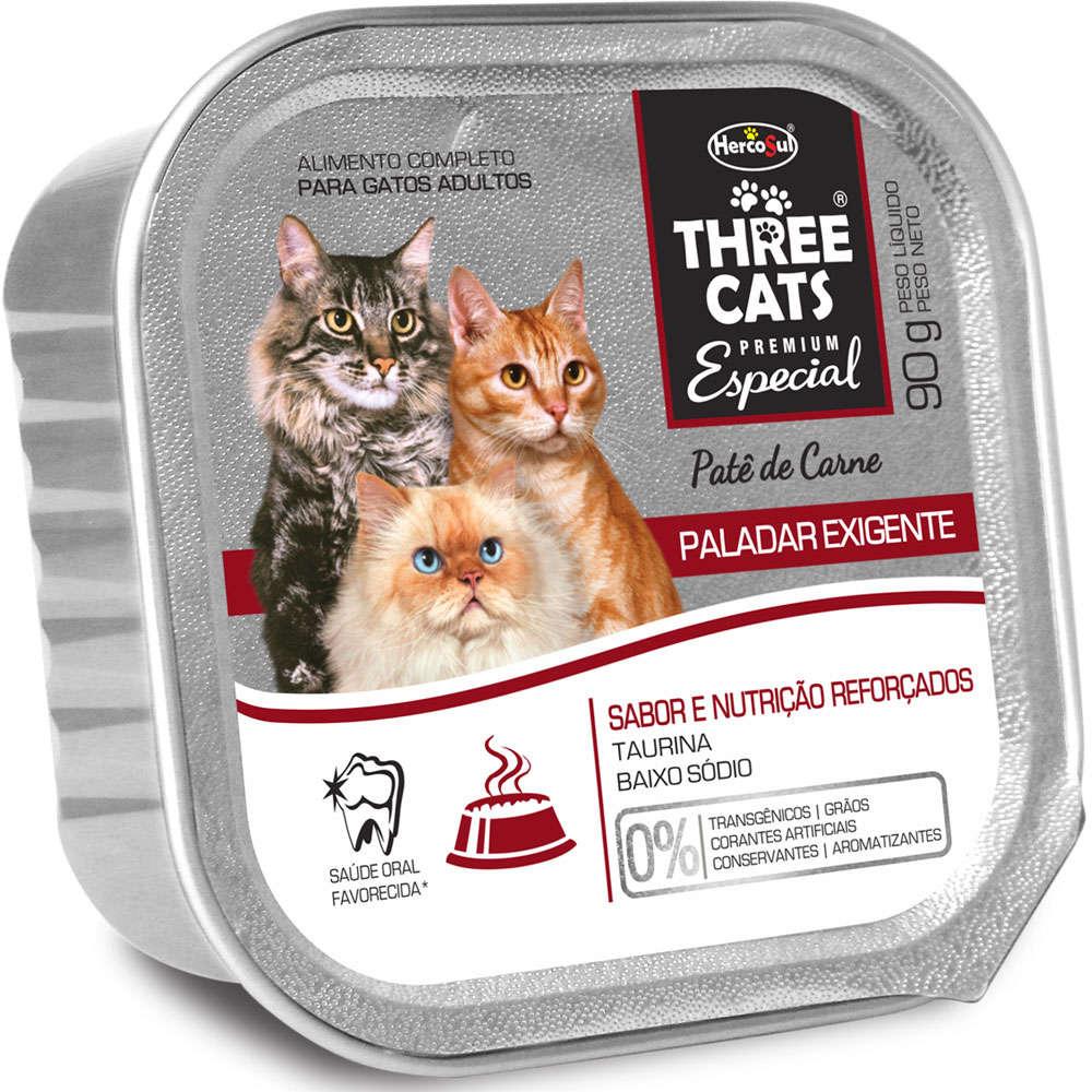 Three Cats Patê Paladar Exigente Carne