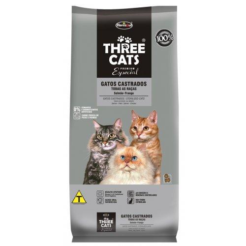 Three Cats Adulto Gatos Castrados