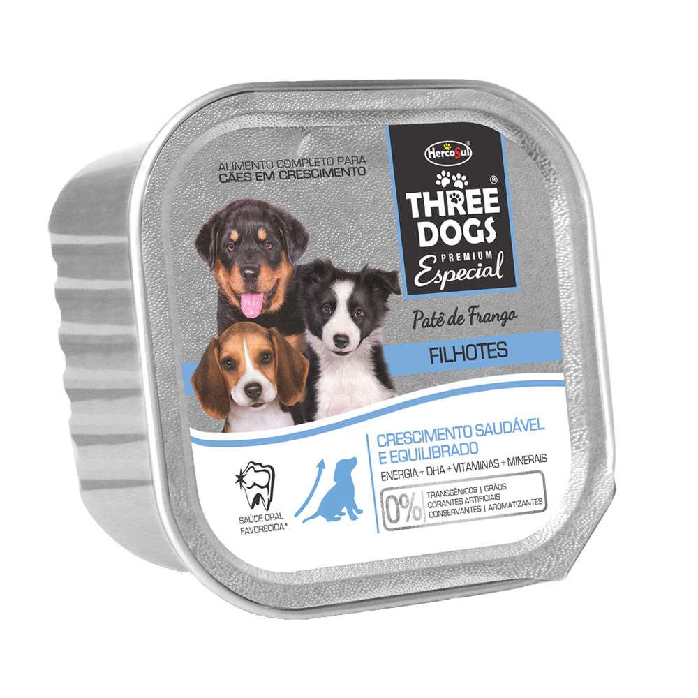 Three Dogs Patê Filhotes Frango