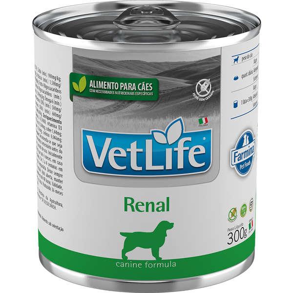 Vet Life Canine Ração Úmida Renal Cães 300g - Farmina
