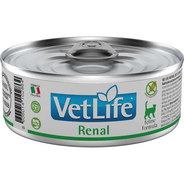 Vet Life Renal Ração Úmida Gatos 85g