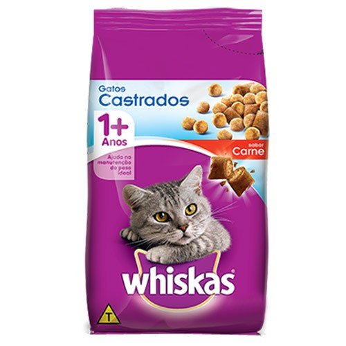 Whiskas Adulto Gatos Castrados Carne
