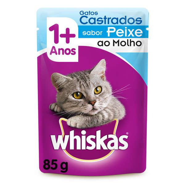 Whiskas Sachê Castrados Peixe