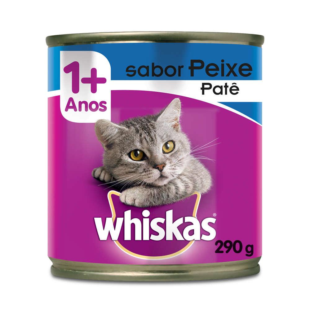 Whiskas Lata Patê de Peixe 290g