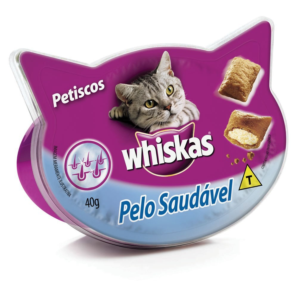 Whiskas Snacks Temptations Pelo Saudável - 40g
