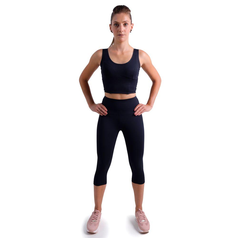 Calça legging anticelulite modeladora corsário | belebio