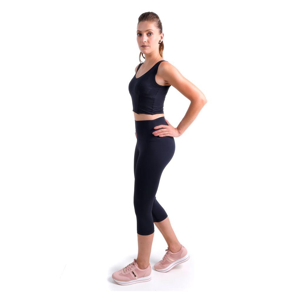 Calça legging anticelulite modeladora corsário com minerais bioativos e infravermelho longo | belebio