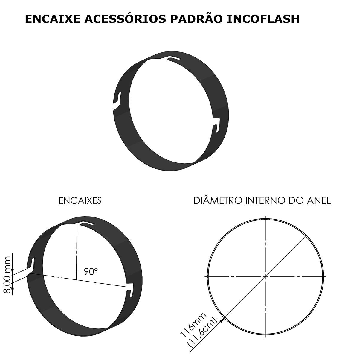 ADAPTADOR ACESSORIOS BOWENS EM FLASHES PADRÃO INCOFLASH