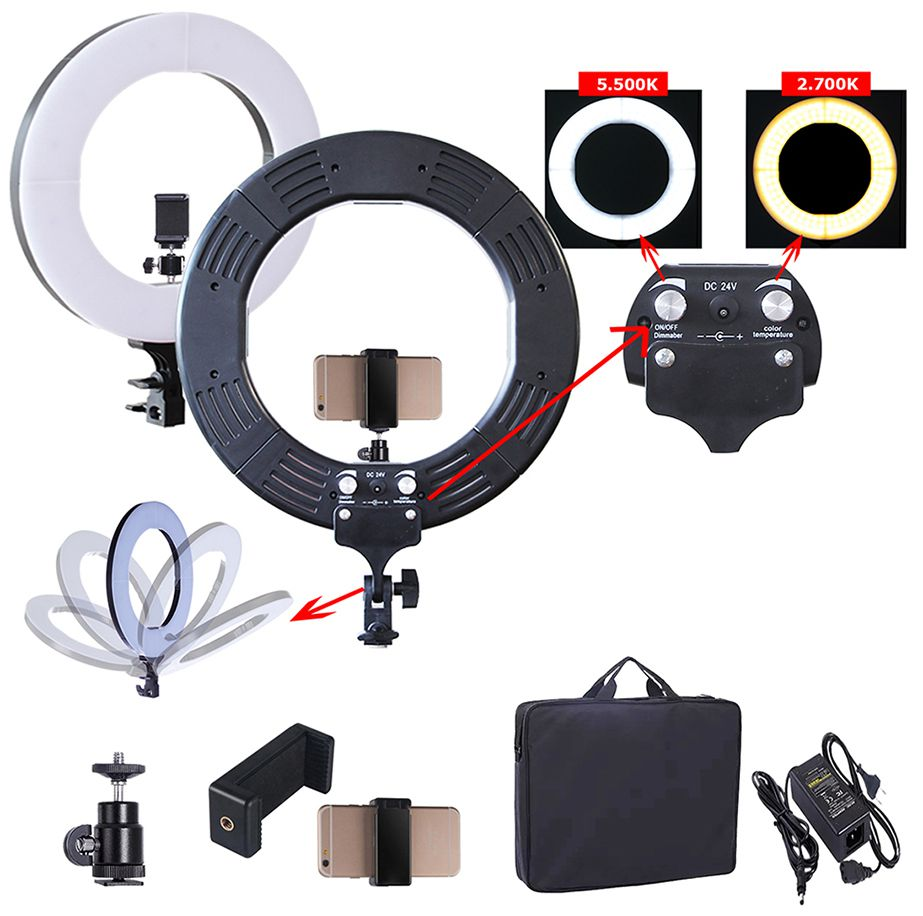 ILUMINADOR LED RING LIGHT 60W BICOLOR