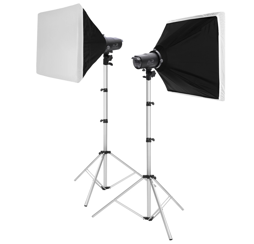 KIT PRO 2 COM SOFTBOX 75X75CM