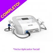NOVO HIBRIDI HTM COMPLETO - Aparelho de Ultrassom de Alta Potência e Terapias Combinadas com Aplicador Corporal e Facial