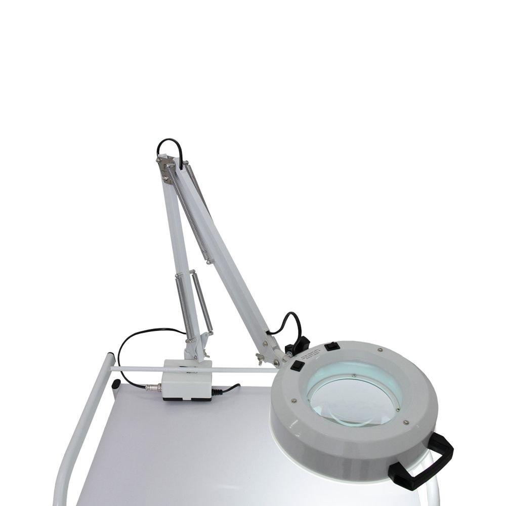 Lupa LED de Alumínio com Apoio para Mesa - Estek