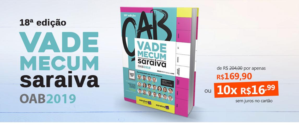 Vade Mecum Oab - Saraiva 2019