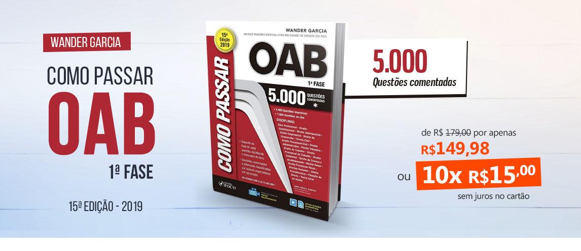Como Passar na OAB - 1ª Fase - 5000 Questões