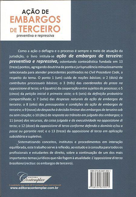 Ação de Embargos de Terceiro Preventiva e Repressiva