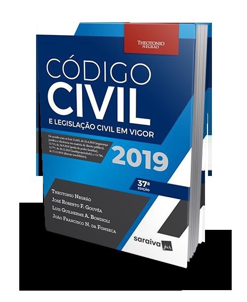 Código Civil E Legislação Civil Em Vigor - 37ª Ed. 2019 - Theotonio Negrão