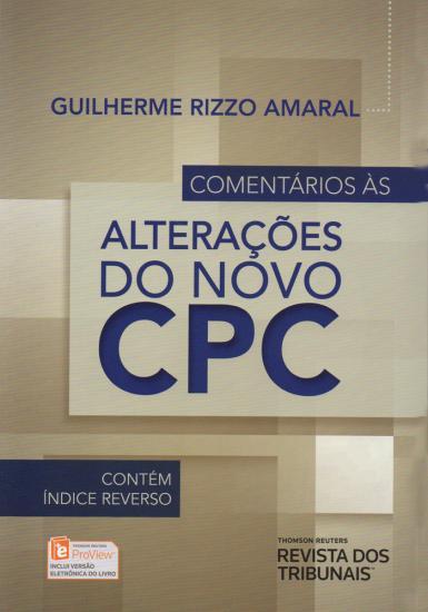 Comentários às Alterações do Novo CPC