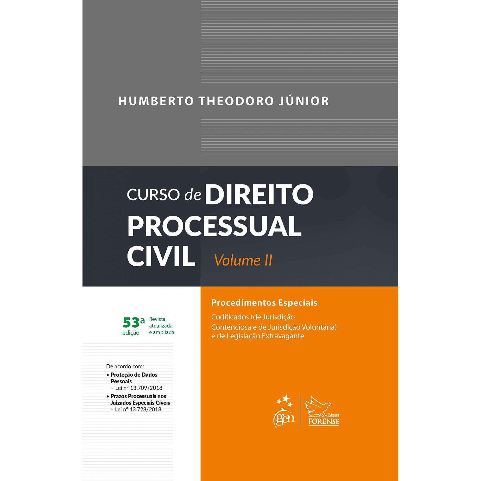 Curso de Direito Processual Civil - Volume II - 53ª Edição - 2019