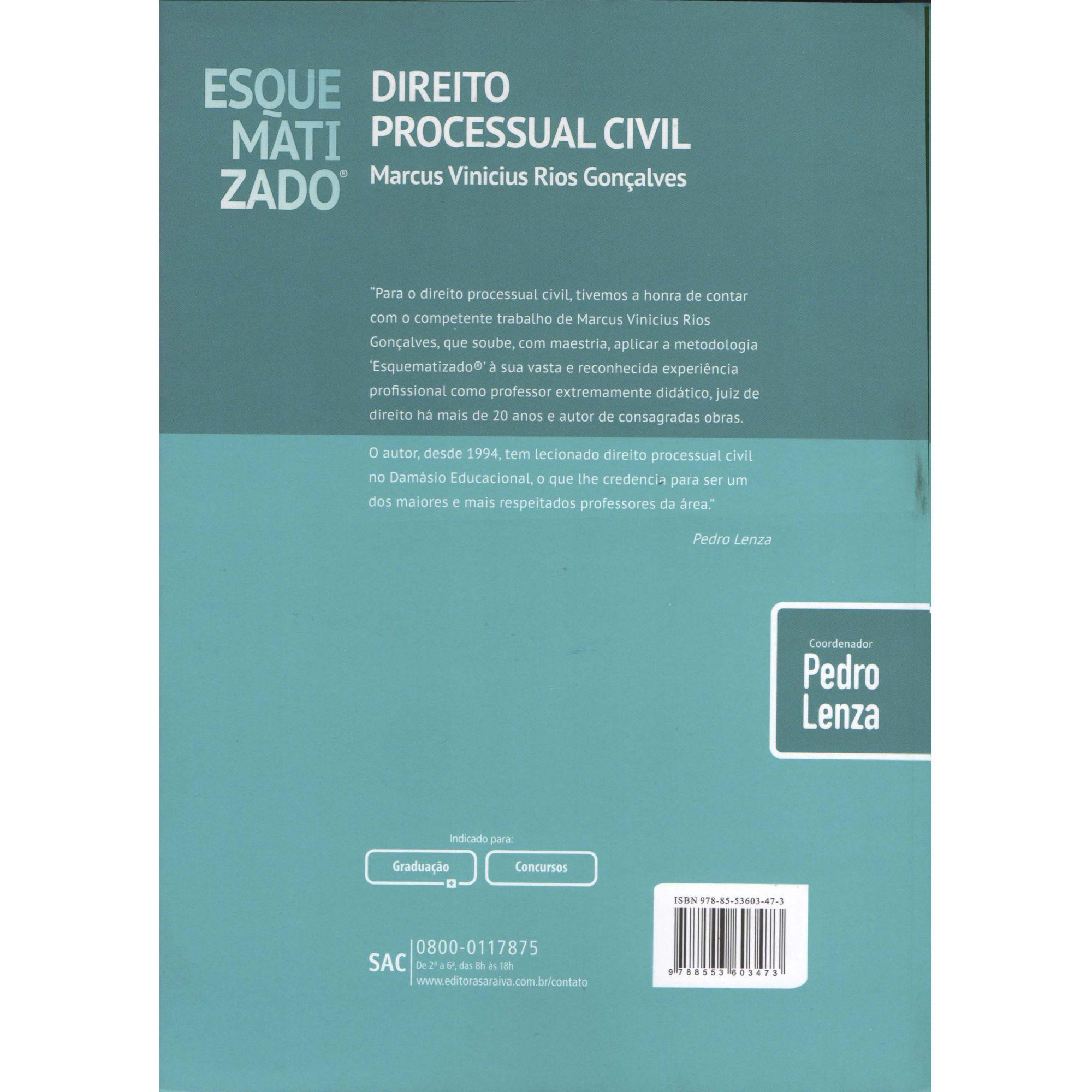 Direito Processual Civil Esquematizado - 10ª Edição