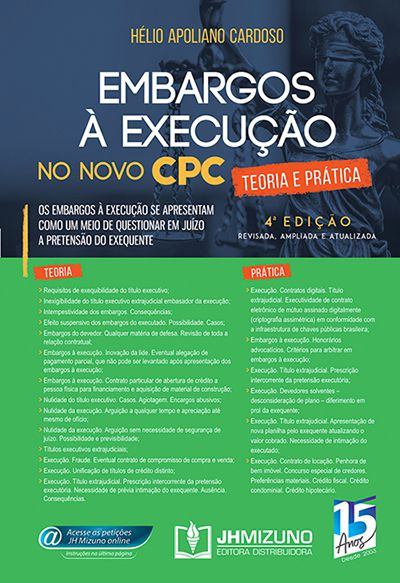 Embargos à Execução no Novo CPC 4ª edição - Hélio Apoliano Cardoso