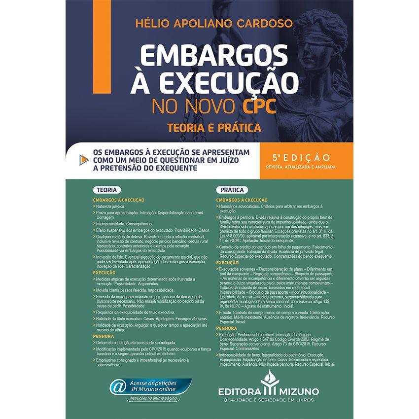 Embargos à Execução no Novo CPC - Teoria e Prática - 5ª edição