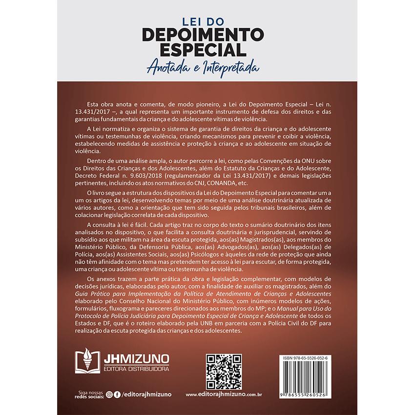 Lei do Depoimento Especial Anotada e Interpretada