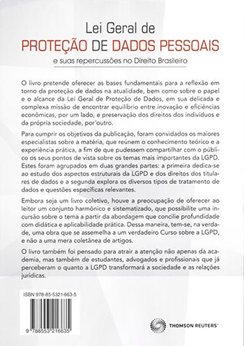 Lei Geral De Proteção De Dados Pessoais E Suas Repercussões No Direito Brasileiro