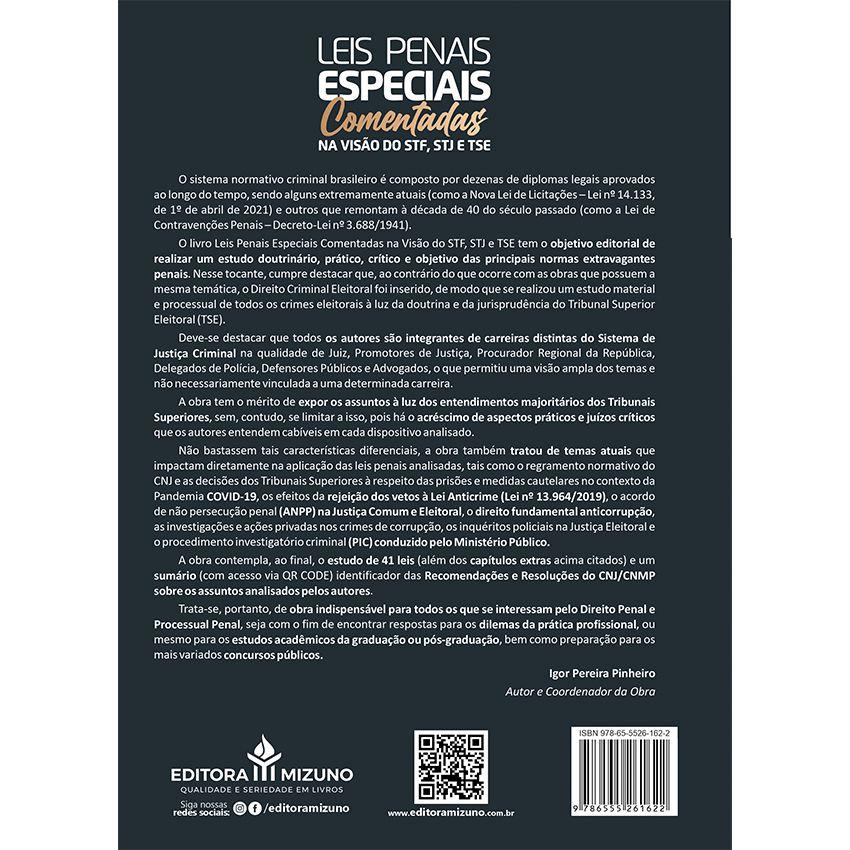 Leis Penais Especiais Comentadas na Visão do STF, STJ e TSE