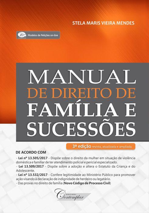 Manual de Direito de Família e Sucessões