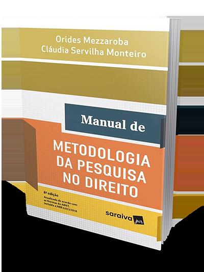Manual de Metodologia da Pesquisa no Direito - 8ª Edição