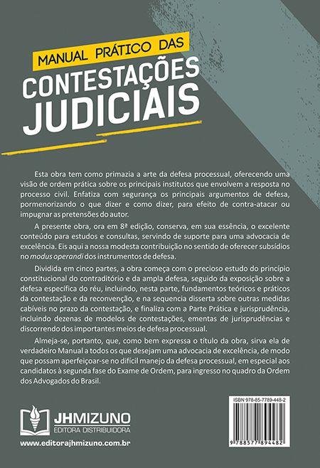 Manual Prático das Contestações Judiciais 8ª edição - Valdemar Pereira da Luz