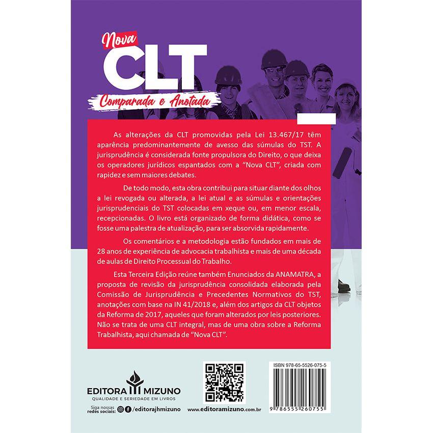 Nova CLT Comparada e Anotada - O que muda na prática com a Reforma Trabalhista - 3ª Edição