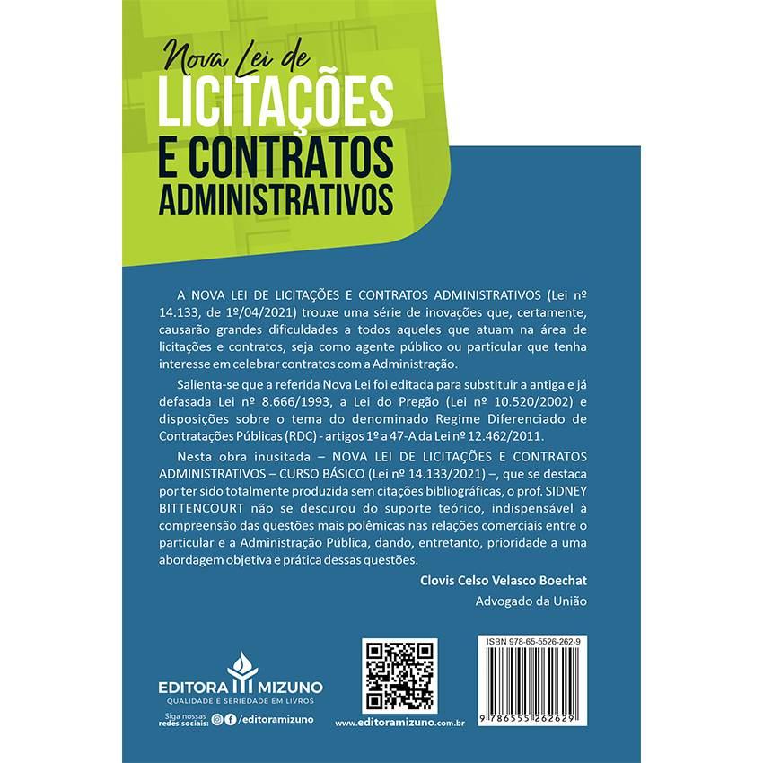 Nova Lei de Licitações e Contratos Administrativos - LEI Nº 14.133, DE 1º DE ABRIL DE 2021