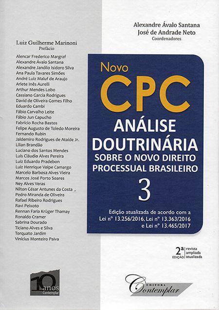 Novo Cpc Análise Doutrinária Sobre o Novo Direito Processual Brasileiro - 3 Volumes - 2ª Edição