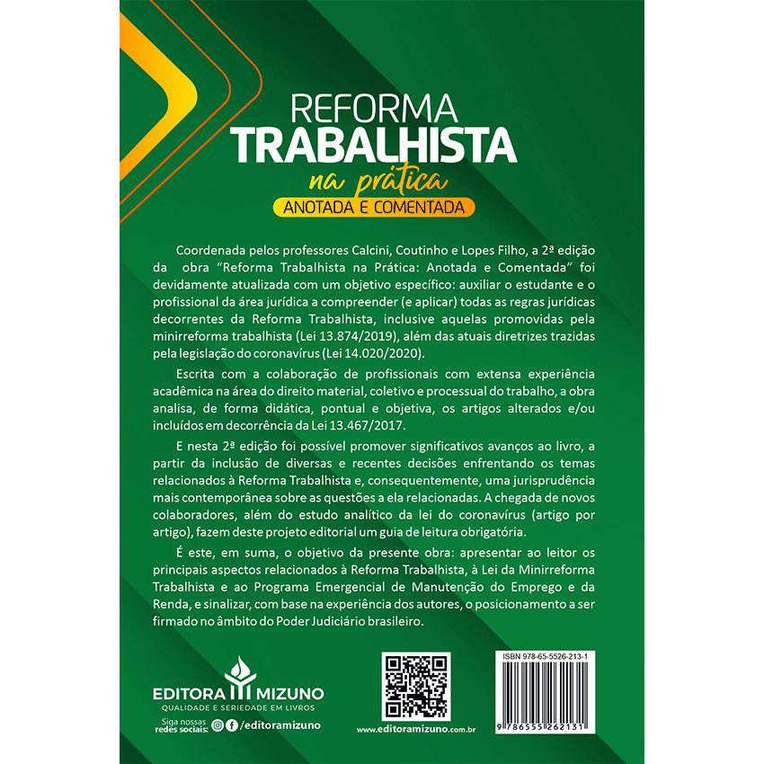 Reforma Trabalhista na Prática - Anotada e Comentada - 2ª Edição