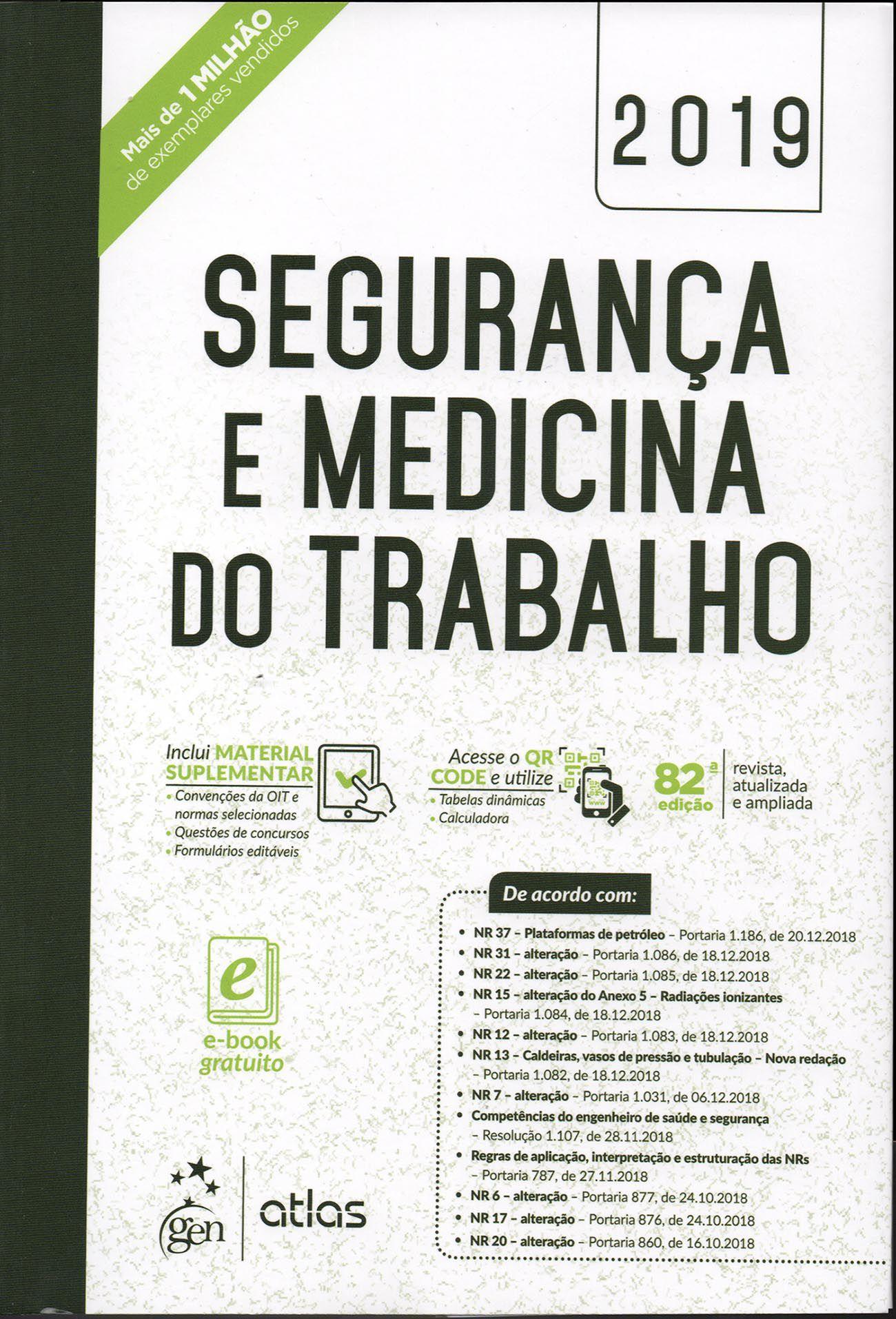Segurança e Medicina do Trabalho - 82ª Edição
