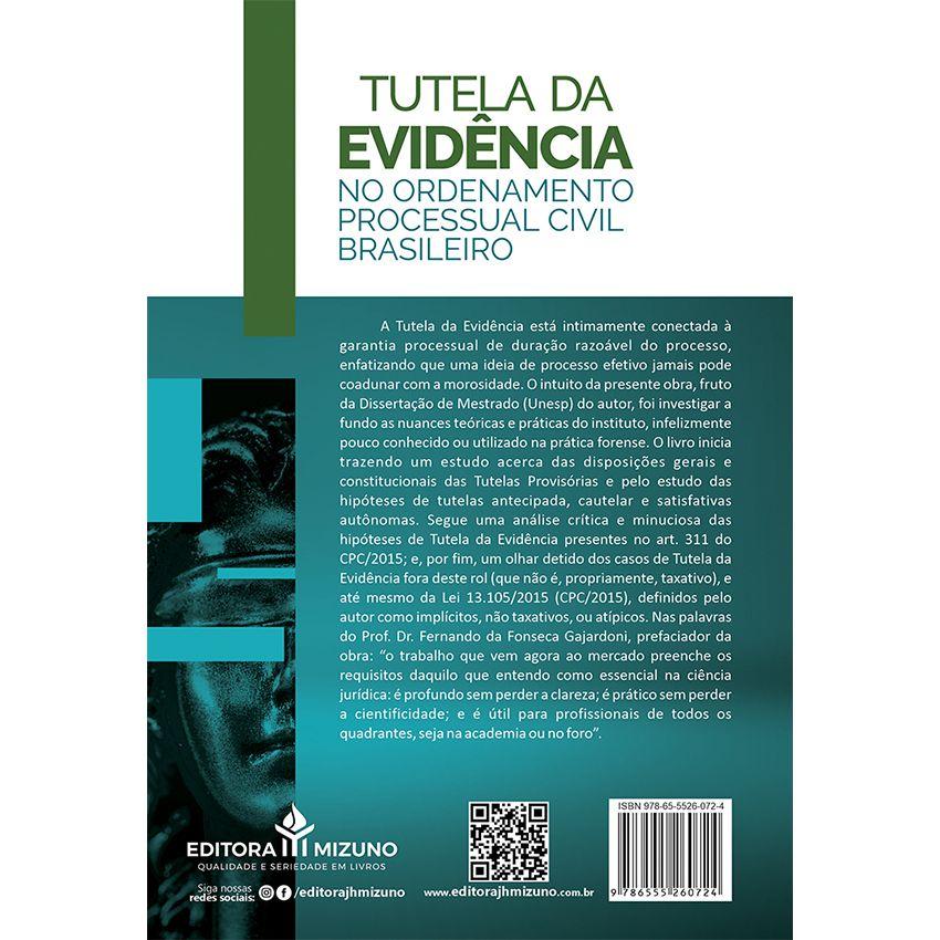 Tutela da Evidência no Ordenamento Processual Civil Brasileiro