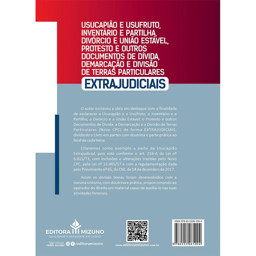 Usucapião e Usufruto, Inventário e Partilha, Divórcio e União Estável, Protesto e outros Documentos de Dívida - 3ª Ed.