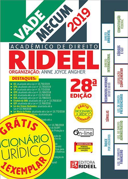 Vade Mecum Acadêmico De Direito - Rideel 28ª Edição - 2019
