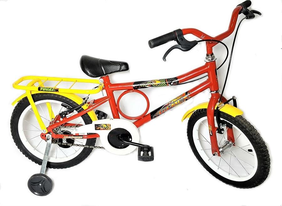 Bicicleta Aro 16 Barra Forte Infantil Barrinha Vermelha